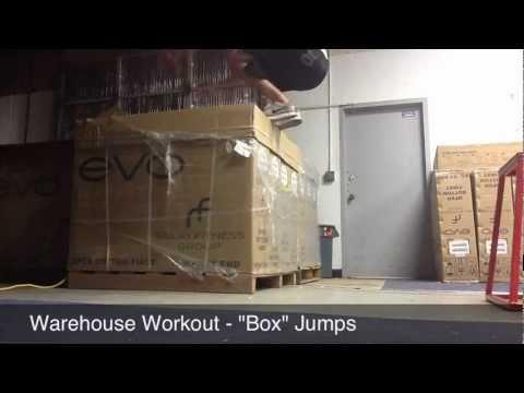Warehouse Workout Box Jumps... Literally