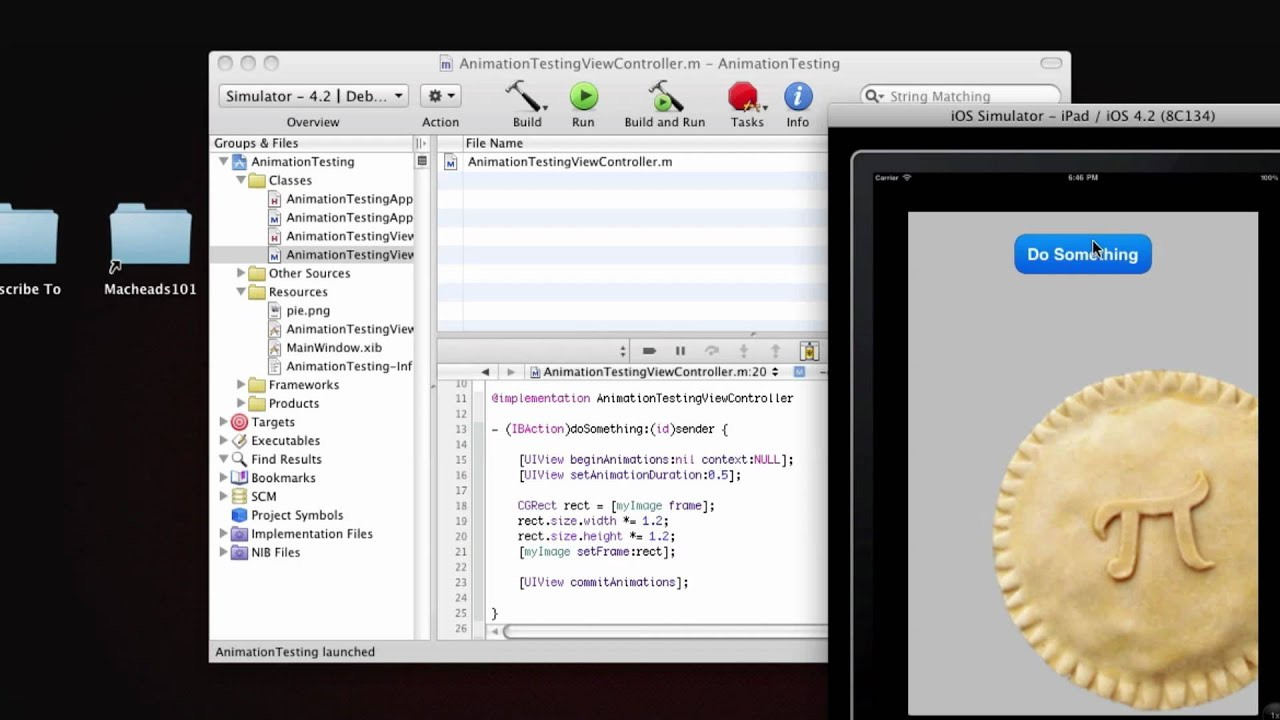 Objective-C iPhone Programming Lesson 7 - Moving and Animating