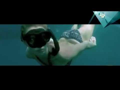The girl (Gaga) swim with sarks - 2016