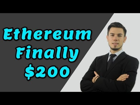 ETHEREUM FINALLY $200 - Technical Analysis Today News Price
