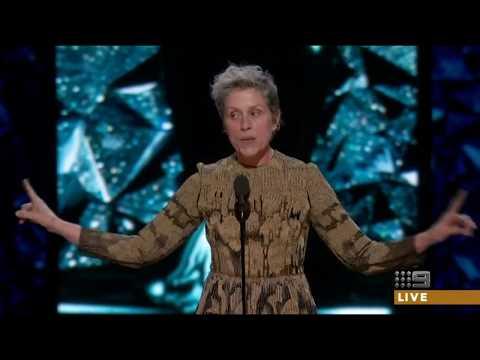 Frances McDormand wins the Oscar for Lead Actress 2018 [HD]