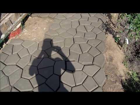 Как сделать раствор для тротуарной дорожки
