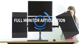 STAND-V004Y Quad Monitor Desk Mount by VIVO
