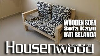 Diy Pine Wooden Sofa