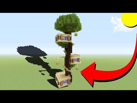Minecraft Tutorial: How To Make A Big Tree House Base