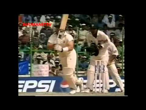 Anil Kumble, V RAJU, Chauhan top class spin bowling ball by ball 1998