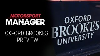 Oxford Brookes University - Motorsport Engineering Students' Preview