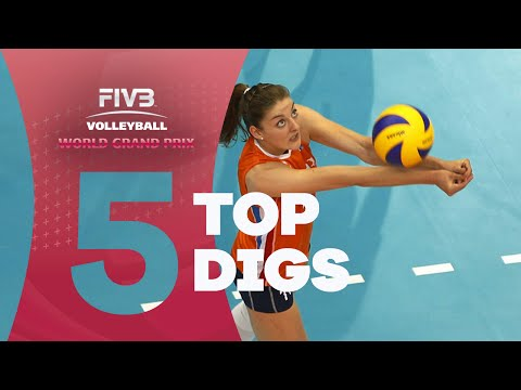 FIVB - World Grand Prix: Top 5 Digs