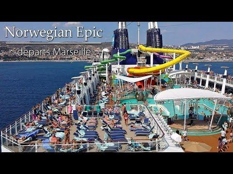 Norwegian Epic departs Marseille, France | Sony camera
