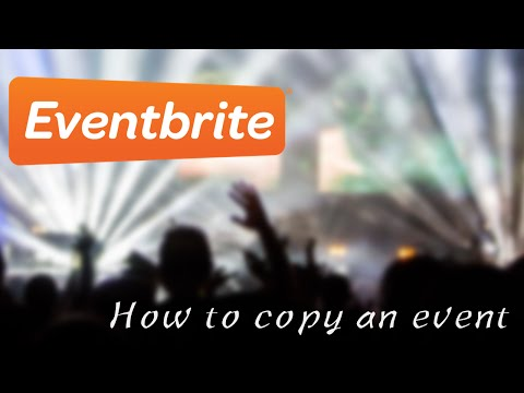 How to copy an event on Eventbrite
