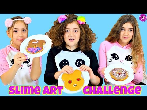 SLIME ART CHALLENGE - BUTTER SLIME CLAY GIVEAWAY!