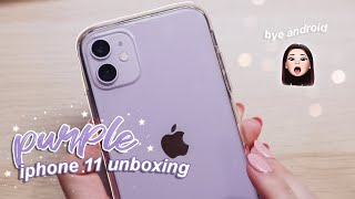 Purple iPhone 11 unboxing 💜🍎