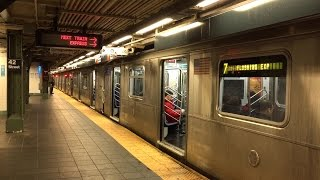 NYC Subway: Rush Hour at Times Square Station