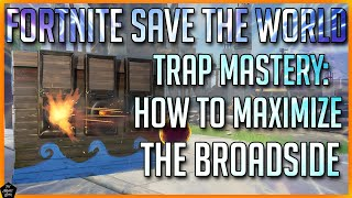 FORTNITE STW TRAP MASTERY: HOW TO USE THE BROADSIDE TRAP! FUNDAMENTALS, TIPS & POTENTIAL BUILDS!
