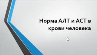 видео Анализ крови АЛТ