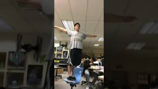 Teacher yells at fatass for breaking chair! (**FUNNY**)