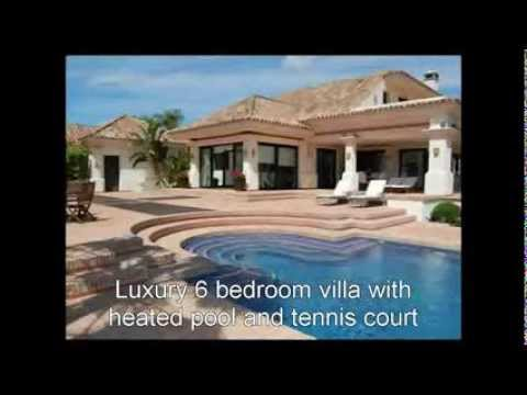 Luxury Villa Marbella heated pool tennis court