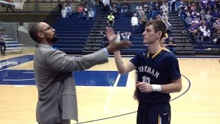 College Basketball Coach Gives Each Player Custom Handshakes Before Games