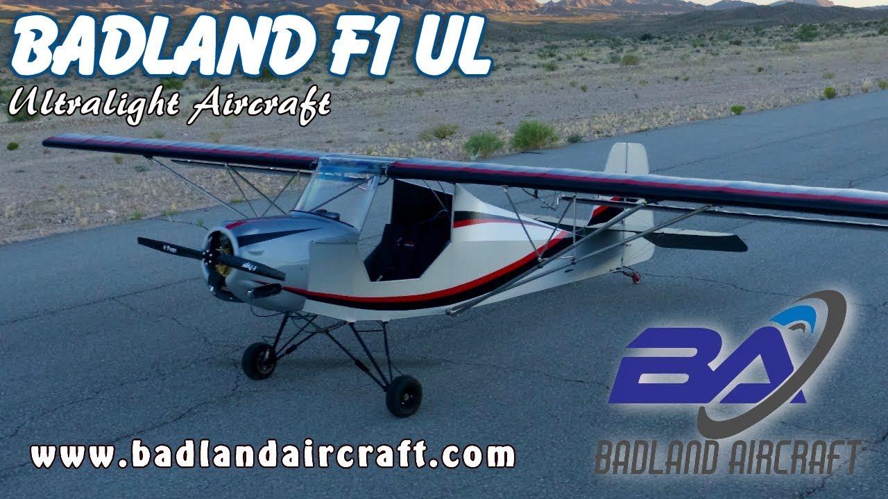Badland Aircraft, F1, F2 Flyer, F3 Speed, F4 Monster, F5 Fujita ultralight  & experimental aircraft