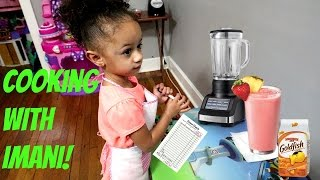 Toy Kitchen Playset Pretend Cooking And Making Smoothie With Toy Blender!