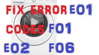 WHIRLPOOL DUET / MAYTAG WASHER MACHINE repair error codes F01,F06,E01,E02