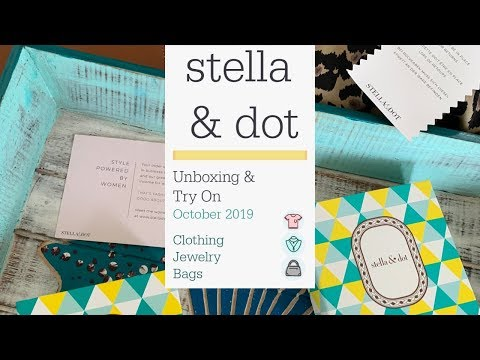NEW Stella & Dot - October 2019:  Unboxing & Try On...styles For Everyone And For Anywhere!