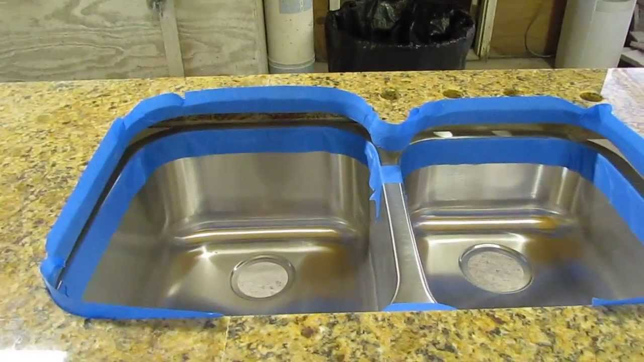 how to install an undermount sink to a granite countertop youtube - Fitting Kitchen Sink