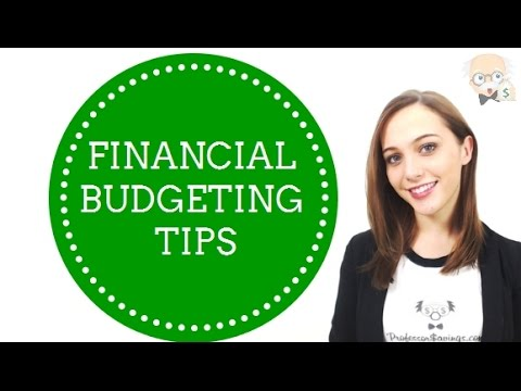 Financial Budgeting Tips — Save and Budget – Professor Savings