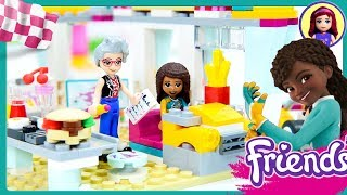 Lego Friends Drifting Diner Review Build Silly Play Race Cars Kids Toys