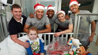 Liverpool FC squad make 2018 Christmas visit to Alder Hey Children
