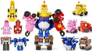 Larva Rangers Red Yellow Pink BlackBlue Brown Transformers Combiner Robot Toys
