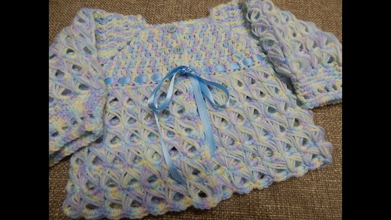 Suéter Crochet Bebé 0-3 Meses - YouTube