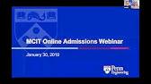 Penn Engineering's Online MCIT [Admissions Webinar: 8/22/18