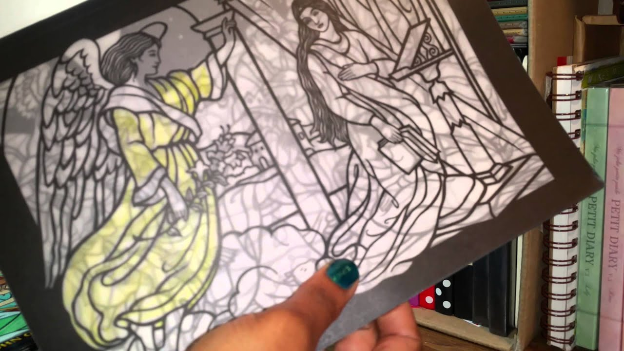 Adult Coloring Book Collection (Stained Glass Coloring) - YouTube