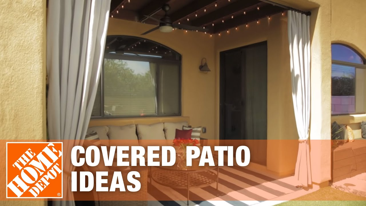 covered patio ideas outdoor living space design tips the home depot - Home Depot Design