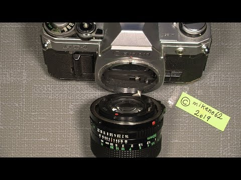 Problem's when try to mount a Canon FD lens to the camera, after repair