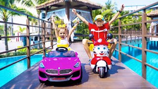 Max and Arina and Gift Day for Kids