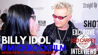 Billy Idol interviewed at SHOT! The Psycho-Spiritual Mantra Of Rock Premiere at the Grove