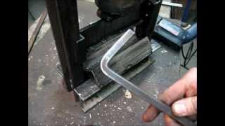 Making Of a DIY Mini Press Brake (Metal Bender)
