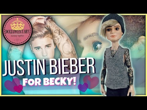 JUSTIN BIEBER DOLL REPAINT | How To Draw Tattoos | Celebrity Ooak Face up