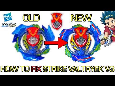 STRIKE VALTRYEK V3 FIXED! POWERFUL MOD BEYBLADE BURST HASBRO