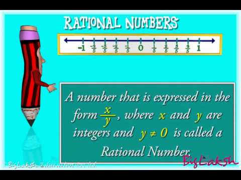 Rational number on a number line