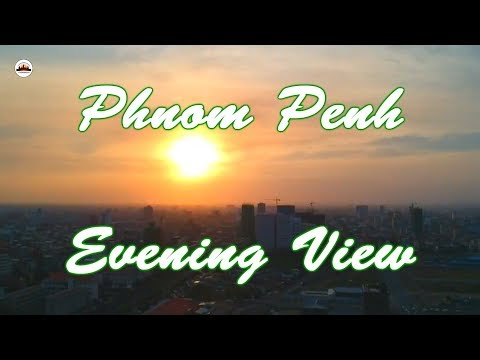 Phnom Penh Evening View by Drone – Angkor Wat Tours – Tours of Cambodia – Phnom Penh Travel