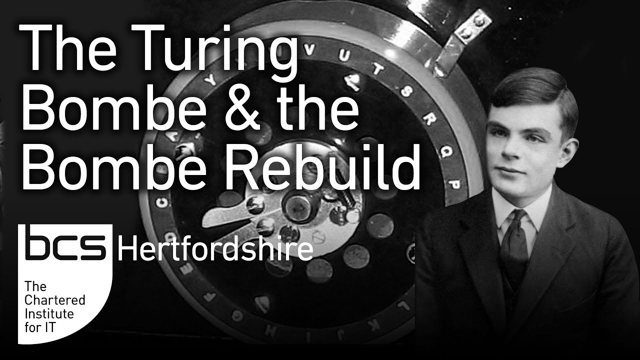 The German Enigma, the Turing British Bombe and the Bombe Rebuild Graphic