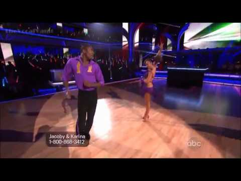 Jacoby Jones & Karina Smirnoff - Cha Cha -Week-1