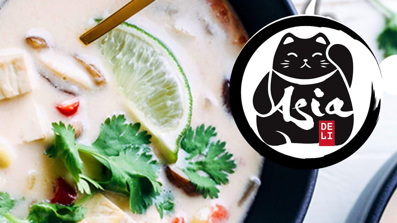 Przepis na tajską zupę kokosową TOM KHA GAi