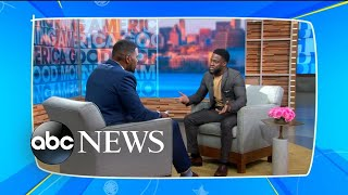 Sara Haines and Michael Strahan react to Strahan's interview with Kevin Hart