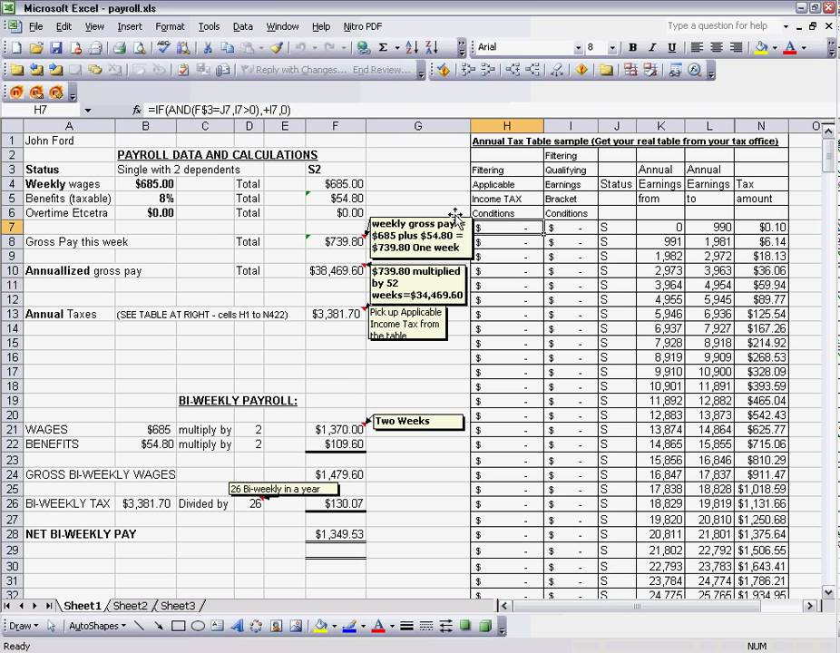 payroll tax template excel