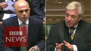 Speaker John Bercow accuses Sajid Javid of 'incompetence' - BBC News