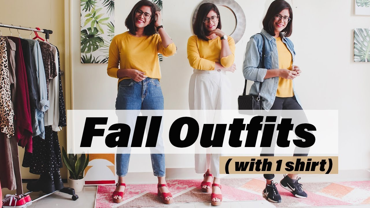 [VIDEO] - Casual Fall Outfit Ideas 2019 (with one shirt) 7